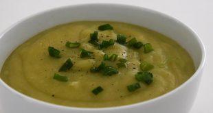 سوپ-سیب-زمینی-تره-فرنگی-(دستور-غذایی)